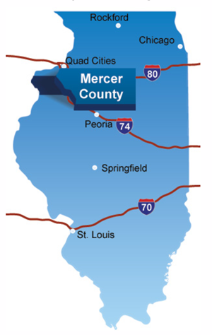 Mercer County Illinois cutout